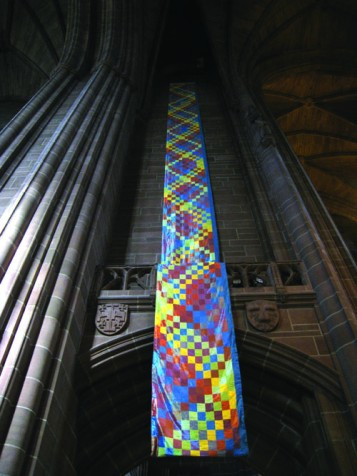 Grandsire Cinques (with Covering Tenor), Ringing Banners Installation, Liverpool Cathedral